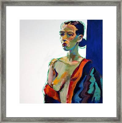 Nude-j Framed Print by Piotr Antonow