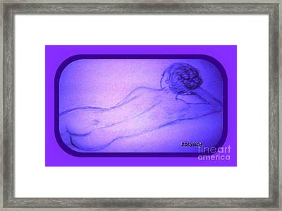 Nude Lady In Violet Framed Print by Debra Lynch