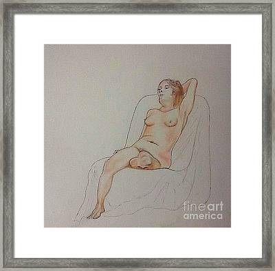Nude Life Drawing Framed Print