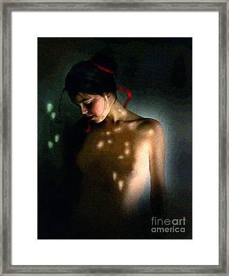 Nude Light Framed Print by Robert Foster