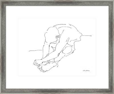 Nude Male Drawings 8 Framed Print by Gordon Punt