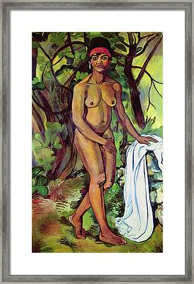 Nude Framed Print by Marie Clementine Valdon