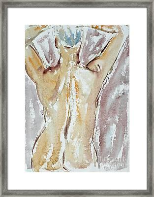 Nude Framed Print by Michal Boubin