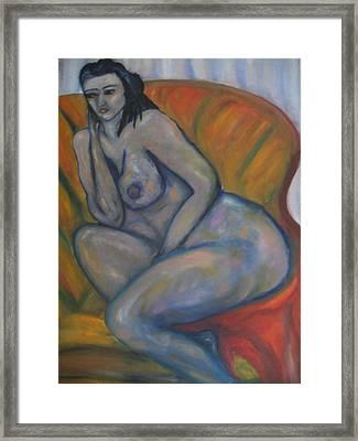 Nude Mood Framed Print by Maria  Kolucheva