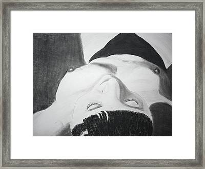 Nude Napper Framed Print