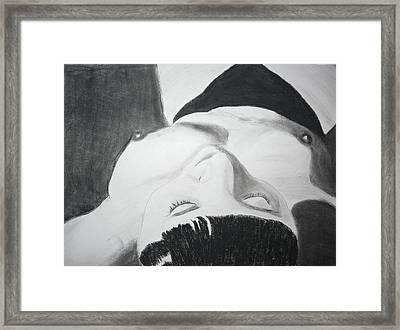 Nude Napper Framed Print by Cathy Jourdan
