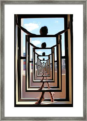 Nude Nite Framed Print by Richard Barone
