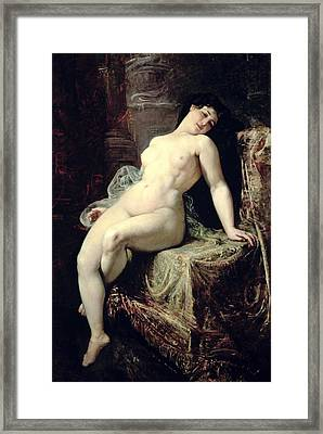 Nude Framed Print by Ramon Marti Alsina