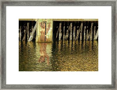 Nude Reflection Framed Print by Harry Spitz