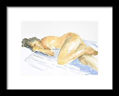 Nude Woman Nature Framed Prints