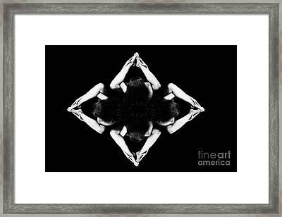 Nudes In Diamond Pattern - 3015da Framed Print by Cee Cee - Nude Fine Arts