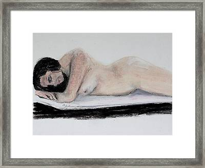 Nude Sleeper Framed Print
