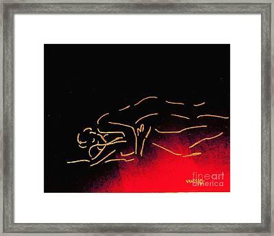Nude Sleeping Couple Framed Print