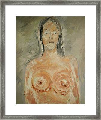 Nude Sleeping Framed Print by Edward Wolverton