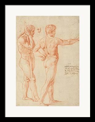 Raphael Drawings Framed Prints