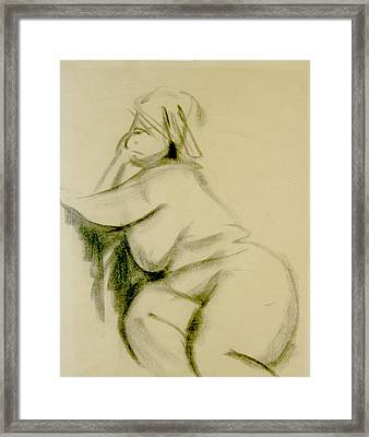 Nude Study Framed Print by Howard Stroman
