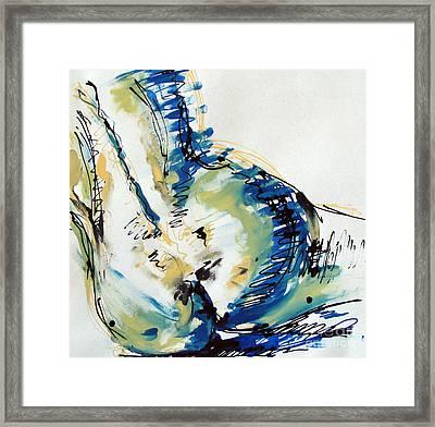 Nude Study Framed Print by Iglika Milcheva-Godfrey