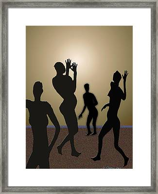 Nude Volleyball Framed Print by Jerry Cooper