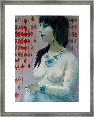 Nude With Jewelry /sold Framed Print
