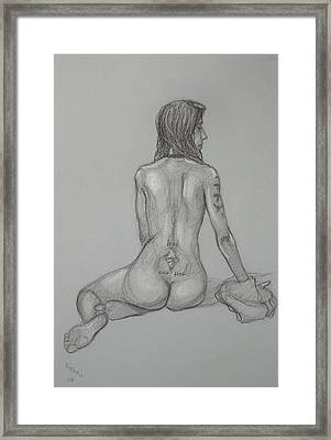 Nude With Tattoo 1 Framed Print by Donelli  DiMaria