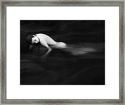 Nude Woman In River Framed Print