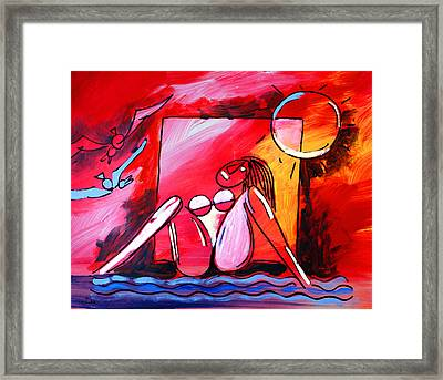 Nude Woman On Beach 3 Framed Print