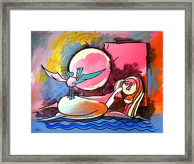 Nude Woman On Beach 4 Framed Print