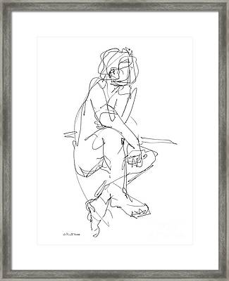 Nude_male_drawing_29 Framed Print