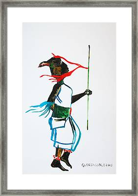 Nuer Dance - South Sudan Framed Print