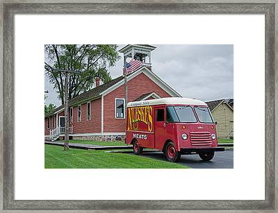 Nueske Meat Store Framed Print