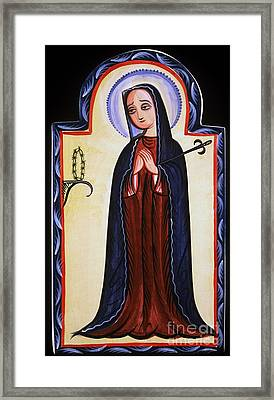 Nuestra Senora De Los Dolores - Our Lady Of Sorrows - Aosdd Framed Print