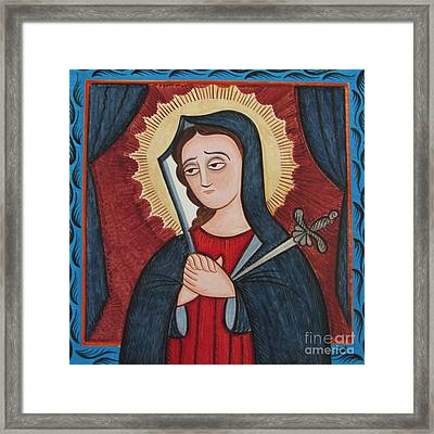 Nuestra Senora De Los Dolores - Our Lady Of Sorrows - Aosor Framed Print