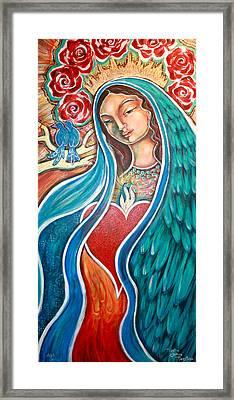 Nuestra Senora Maestosa Framed Print by Shiloh Sophia McCloud