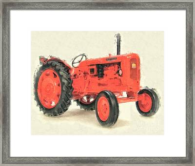 Nuffield Tractor Framed Print by Edward Fielding
