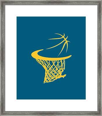 Nuggets Basketball Hoop Framed Print by Joe Hamilton