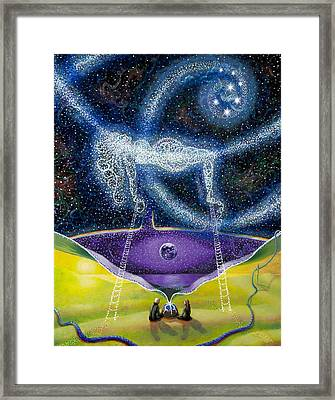 Nuit And The Seven Sisters Framed Print