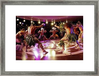 Nuku Hiva Dancers Framed Print by David Smith