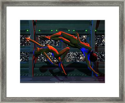 Null Gravity Nudes Framed Print by Jim Coe