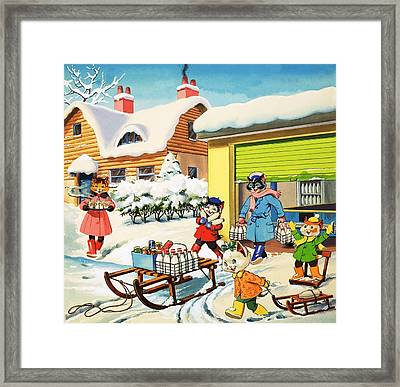 Num Num And His Funny Family Framed Print by Gordon Hutchings