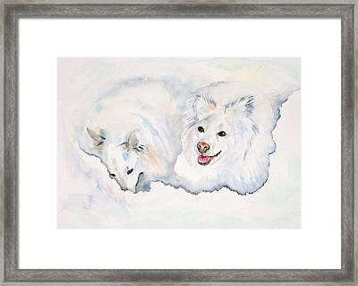 Numa And Amari Framed Print by Gina Hall