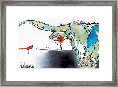 Number 17 Longhorn Steer Framed Print