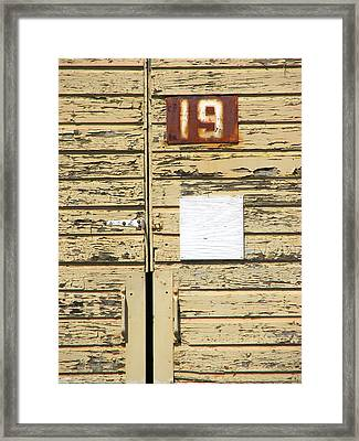 Number 19 Framed Print