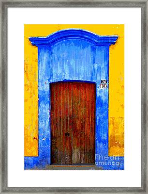 Number 26 By Darian Day Framed Print