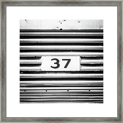 Framed Print featuring the photograph Number 37 Metal Square by Terry DeLuco