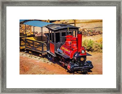 Number 5 Calico Train Framed Print
