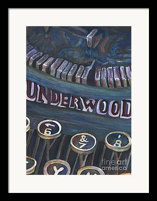 Typewriter Keys Paintings Framed Prints