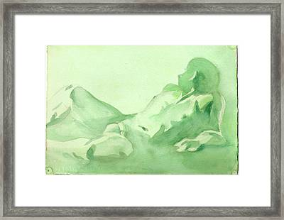Number 88    Figure Of The Artist Framed Print by Ken Daugherty
