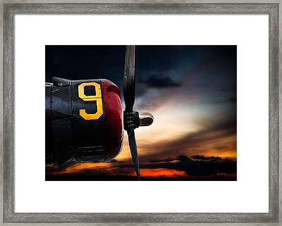 Number 9 Consolidated B-24 Liberator Framed Print