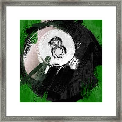 Number Eight Billiards Ball Abstract Framed Print by David G Paul