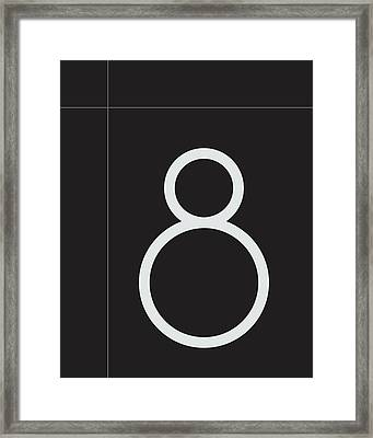 Number Eight Minimalist Print Framed Print